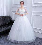 New bride wedding dress