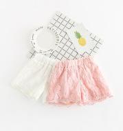 Lace shorts, girls' clothing, flower hot pants