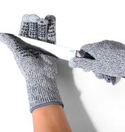 Three-finger touch screen cut-proof gloves