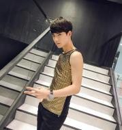 Shining crystal vest men's clothing