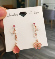 Cherry Blossom Pendant Stud Earrings