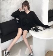 Hooded casual sports suit