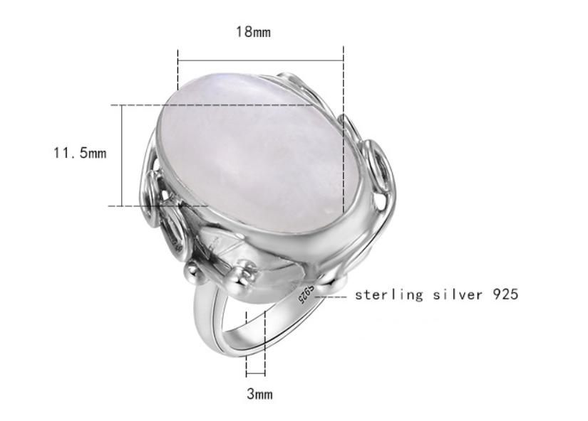 Silver vine leaf ring