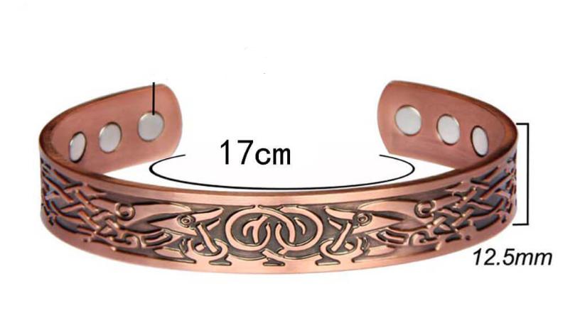 Celtic Viking bracelet Pure Copper with magnets. Adjustable, vintage. Health bracelet. Energy magnetic therapy
