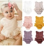 Baby children's clothing striped sleeveless girl pettiskirt