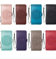 Totem embossed leather case