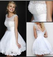 Sexy Lace Bridal Wedding Short Dress