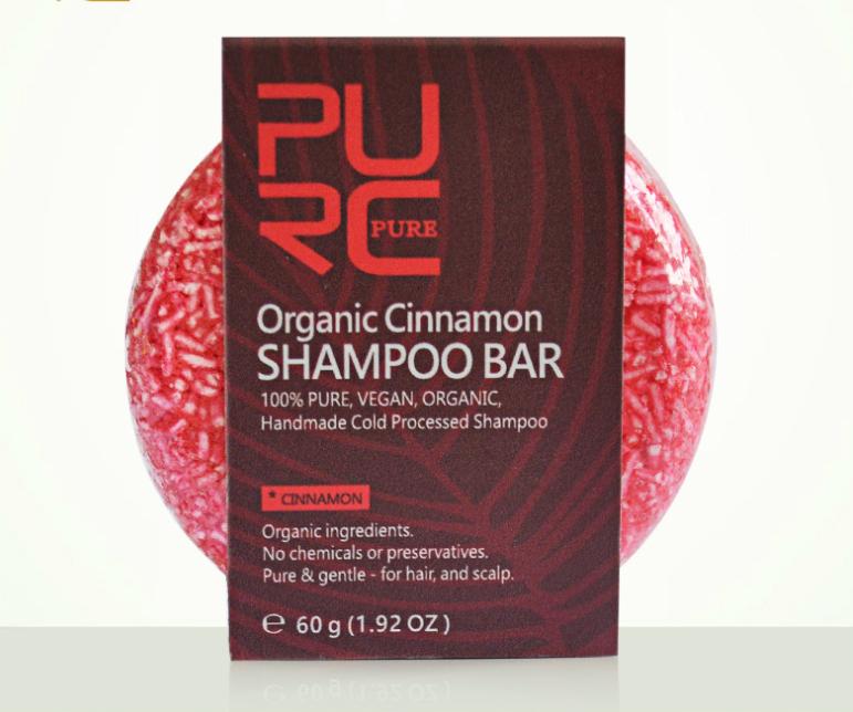Handgemaakte, Aparte, Organische kaneel shampoo voor dagelijks gebruik herstellende haar werking (Kaneel)