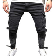 Large pocket casual beam pants