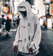 Ripped hoodie men fall popular logo hip-hop