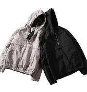 Hooded headband solid color coat