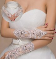 Mother wedding dress gloves