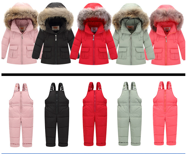 Clothing - Hooded 2-Piece Snowsuit Set with Fur