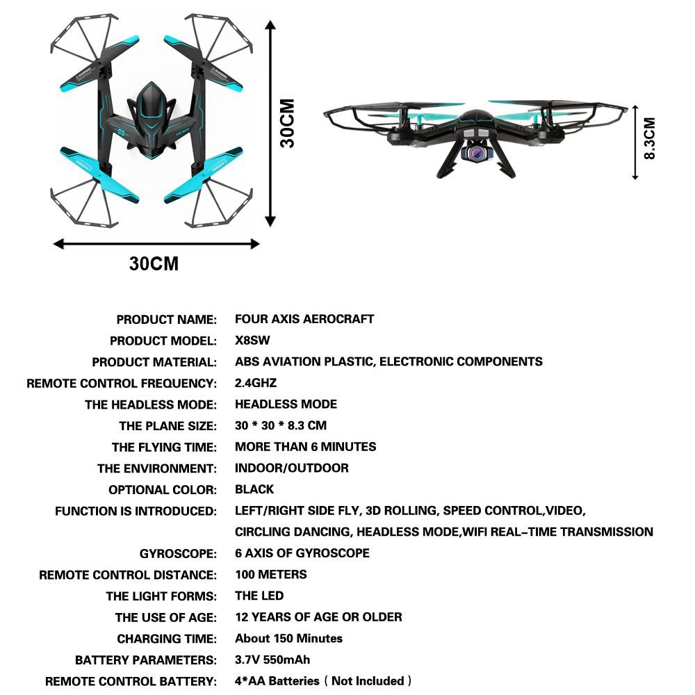 X8SW Multicopper Remote Quadcopter Camera Drone