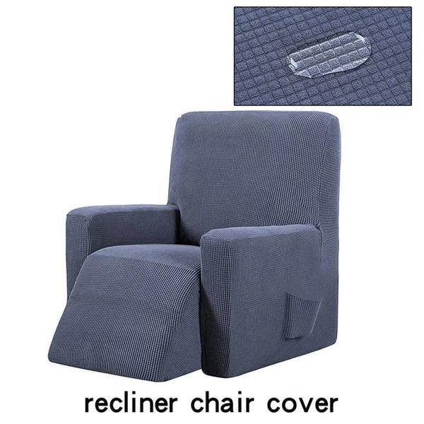 Housse canapé relax inclinable gris foncé