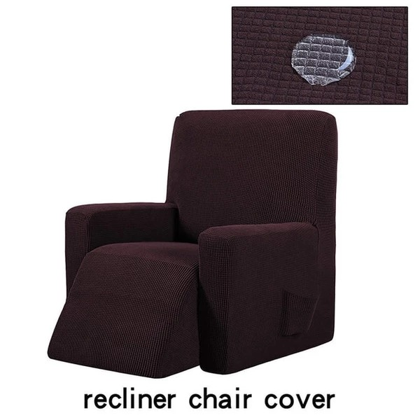 Housse canapé relax inclinable marron