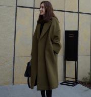 Women's wool woolen coat