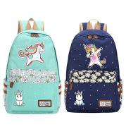 Men and women polka dot floral backpack