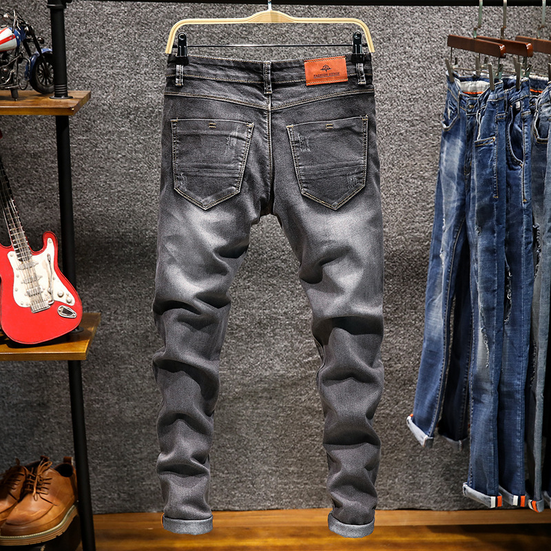1252022865588 Men's jeans in spring, European and American trend jeans, fashion self cultivation stretch pants