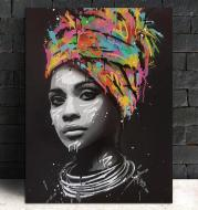 Turban African woman canvas painting