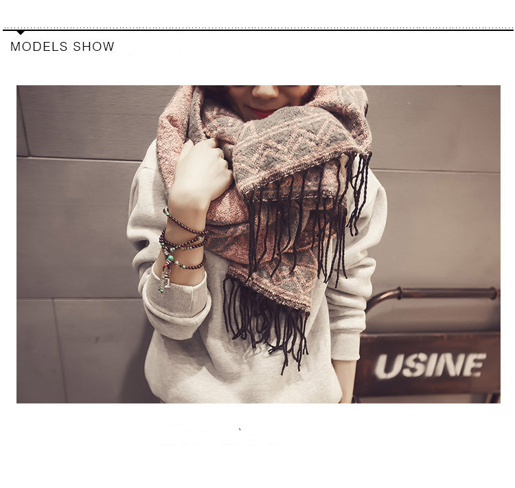 Fringed Cashmere scarf for female