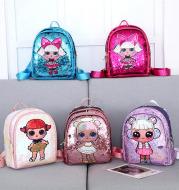 Laser sequin children backpack