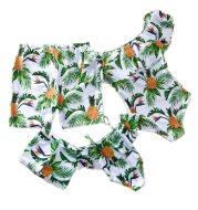 Parent-child pineapple printed swimsuit