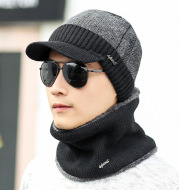 Plush knit hat small iron standard