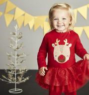 Christmas Elk Mesh Girl Skirt