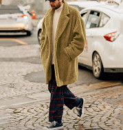 Men's loose lapel casual jacket