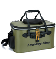Mounchain Fishing Portable EVA Folding Bucket Water Tank Fish Storage Box for Live Fish fishing tackle boxes
