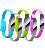 Bracelet data cable USB silicone charging short cable