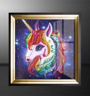 Shaped diamond unicorn crafts diamond painting