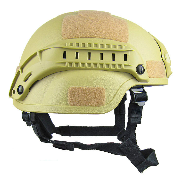 Sand Tactical Helmet Side view