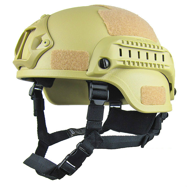 Sand Tactical Helmet Angls view