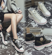 High-top canvas shoes