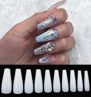 500 tablets of transparent natural color ballet fake nails