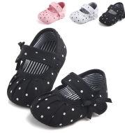 Baby Girl Shoes Cute Polka Dot Princess Kid Anti-slip On Shoes