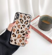 Gold leaf leopard iPhone case