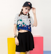 Round neck loose short sleeves