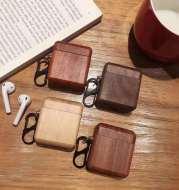 Solid wood bluetooth earphone case
