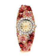 Small flower diamond ladies bracelet watch