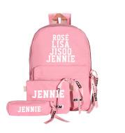 Blackpink peripheral schoolbag shoulder bag mother bag three piece messenger bag pencil bag student canvas schoolbag
