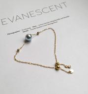 Seawater Pearl Really Hemp Single 14K Gold Bracelet