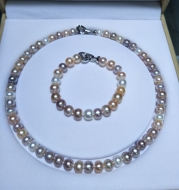 Mixed color pearl chain