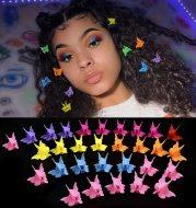 Color mini hair clips