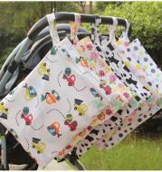 Single-layer zipper baby out waterproof diaper bag