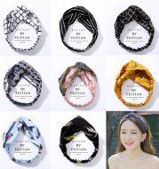 Fabric cross-knotted bow chiffon floral headband