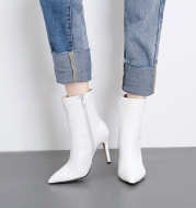 Stiletto heeled Martin boots