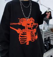 Knitted sweater coat skull